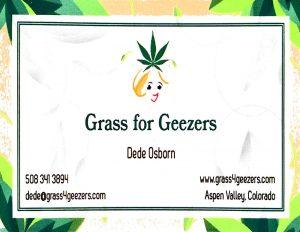 Business Card Grass for Geezers